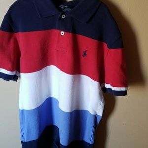 Red, white and blue shirt